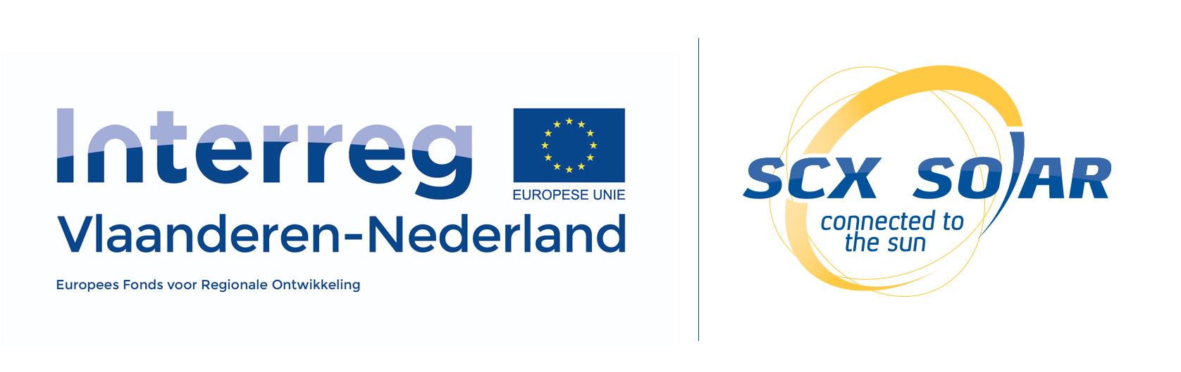 Interreg logo samenwerking SCX Solar Someren